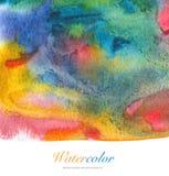 Abstrakt akryl och vattenfärg målad bakgrund Arkivfoto