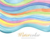 Abstrakt akryl och vattenfärg målad bakgrund Royaltyfri Bild