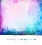 Abstrakt akryl och vattenfärg målad bakgrund Royaltyfria Foton
