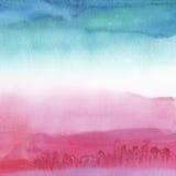 Abstrakt akryl och vattenfärg målad bakgrund Royaltyfria Bilder