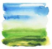 Abstrakt akryl och vattenfärg målad ram Arkivfoton