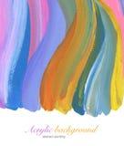 Abstrakt akryl och vattenfärgbakgrund Arkivfoto