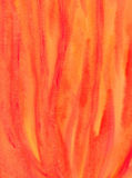 Abstrakt akvarellmålning - brandflammor Royaltyfria Bilder