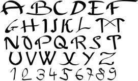 abstrakt alfabet Arkivfoto