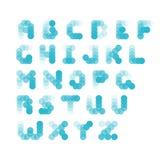 Abstrakt alfabet från bubblor Arkivfoton