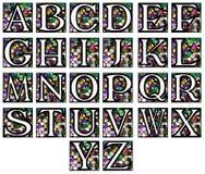 Abstrakt alfabet i mosaik Arkivfoto