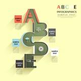 Abstrakt alfabetinfographics Arkivfoto