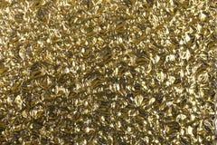 Abstrakt aluminium guld- texturbakgrund för inre tapetserar lyx- design Royaltyfria Bilder