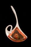 abstrakt amber Arkivfoto