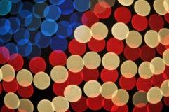 abstrakt amerikansk bakgrundsbokehflagga Arkivfoton