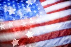abstrakt amerikanska flaggan Arkivbilder