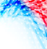 Abstrakt amerikanska flaggan för självständighetsdagen Royaltyfria Foton