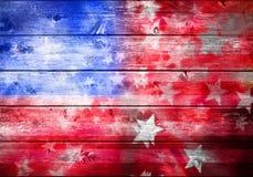Abstrakt amerikanska flagganbakgrund Arkivbilder