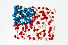Abstrakt amerikanska flagganbakgrund Arkivfoton