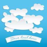 Abstrakt anförande bubblar i formen av använda moln Arkivbilder