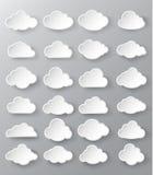 Abstrakt anförande bubblar i formen av moln stock illustrationer