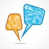 Abstrakt anförandebubbla med triangeln Arkivfoto