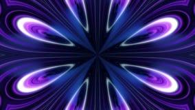 Abstrakt animering av den blåa svartvita blommakalejdoskopet Abstrakt mångfärgad rörelsediagrambakgrund stock illustrationer