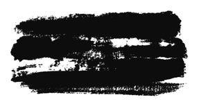 Abstrakt animering av den svarta slaglängden för målarfärgborste på ett vitt stycke av papper djur Svartvita Minimalistic stock illustrationer