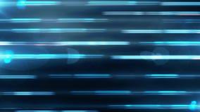 Abstrakt animering av dynamiska färgrika strålar på en blå bakgrund Rörelse av bakgrundsanimeringen royaltyfri illustrationer