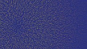 Abstrakt animering av glödande prickar på en blå bakgrund djur H?rlig bakgrund royaltyfri illustrationer