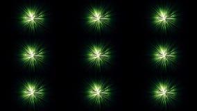 Abstrakt animering av härliga färgrika strålar av ljust skimra på den mörka bakgrunden djur Ljust neon vektor illustrationer