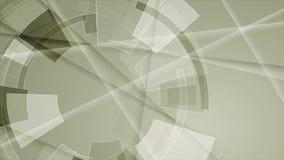 Abstrakt animering för video för teknologiHUD kugghjul vektor illustrationer