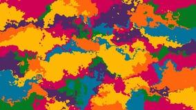 Abstrakt animował pobrudzonego tła pętli bezszwowego wideo pstrokacącego zbiory wideo