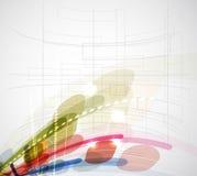 Abstrakt anslutning för suddighetsdatateknikaffär Arkivbilder