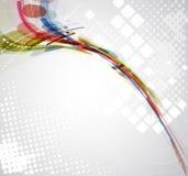 Abstrakt anslutning för suddighetsdatateknikaffär Arkivfoto