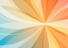 Abstrakt apelsin- och blåttbakgrund stock illustrationer