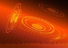 Abstrakt apelsinbakgrund för digital teknologi Fotografering för Bildbyråer