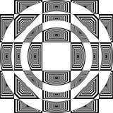 Abstrakt Arabesque inom åtskilligt perspektiv för kupoltakstruktur vektor illustrationer