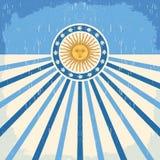 Abstrakt Argentina tappningkort royaltyfri illustrationer