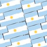 Abstrakt ARGENTINSK flagga eller baner stock illustrationer