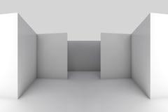Abstrakt arkitektonisk bakgrund för vit 3d Arkivbilder