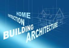 abstrakt arkitektonisk teckning Arkivfoto