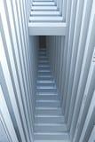 abstrakt arkitektoniskt detaljinteriorperspektiv Royaltyfria Bilder