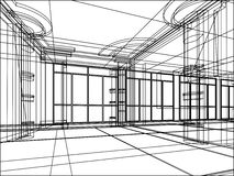 abstrakt arkitektoniskt skissar Fotografering för Bildbyråer