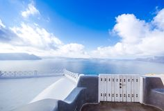Abstrakt arkitektur av cycladic aegean traditionella byggnader, Santorini Fotografering för Bildbyråer