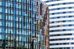 Abstrakt arkitektur av en modern byggnad Fotografering för Bildbyråer