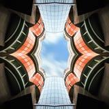 Abstrakt arkitektur Biulding arkivbild