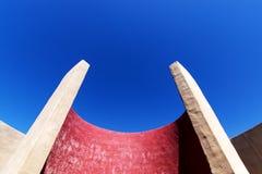 Abstrakt arkitektur, detalj av kammaren av ljudet på Fortaleza de Sagres Arkivbilder
