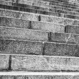 Abstrakt arkitektur, gammal stentrappa Royaltyfria Foton