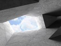 abstrakt arkitekturbakgrund Betongväggkonstruktionsintelligens Arkivbild