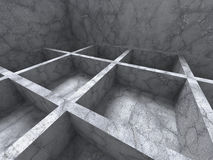 abstrakt arkitekturbakgrund Geometrisk konkret constructio Royaltyfri Bild