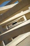 abstrakt arkitekturbakgrund Koncentriska rektanglar i spiral Fotografering för Bildbyråer