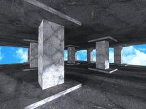 abstrakt arkitekturbakgrund Konkret kolonndesign Constr Royaltyfri Foto