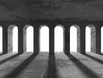 abstrakt arkitekturbakgrund Konkret kolonndesign Constr Royaltyfri Fotografi