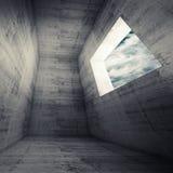 Abstrakt arkitekturbakgrund, mörkerbetongrum vektor illustrationer